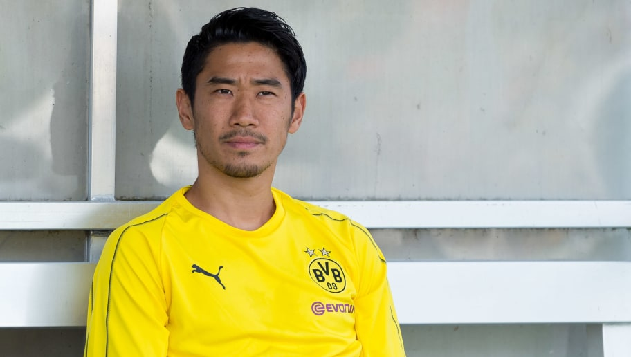 ESSEN, GERMANY - AUGUST 12: Shinji Kagawa of Borussia Dortmund looks on during the friendly match between Borussia Dortmund and Lazio Rom on August 12, 2018 in Essen, Germany. (Photo by TF-Images/Getty Images)