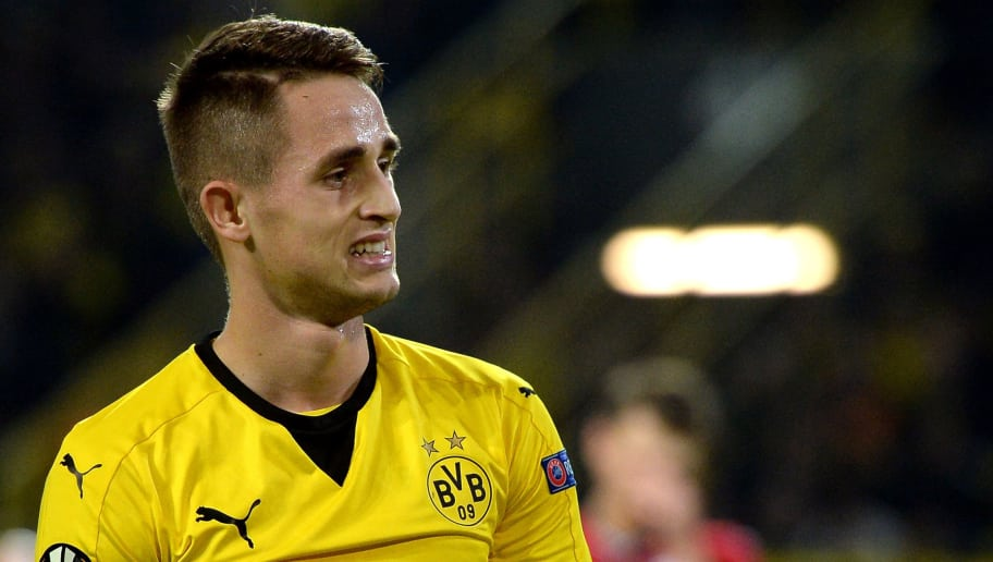 DORTMUND, GERMANY - NOVEMBER 05:  Adnan Januzaj of Dortmund reacts during the UEFA Europa League group stage match between Borussia Dortmund and Qabala FK at Signal Iduna Park on November 5, 2015 in Dortmund, Germany.  (Photo by Sascha Steinbach/Bongarts/Getty Images)