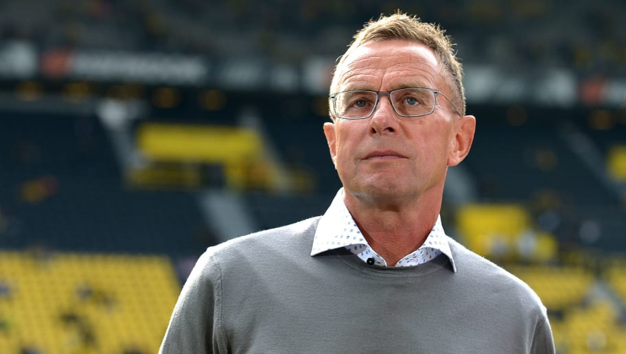 DORTMUND, GERMANY - AUGUST 26: Head coach Ralf Rangnick of Leipzig looks on during the Bundesliga match between Borussia Dortmund and RB Leipzig at Signal Iduna Park on August 26, 2018 in Dortmund, Germany. (Photo by TF-Images/Getty Images)