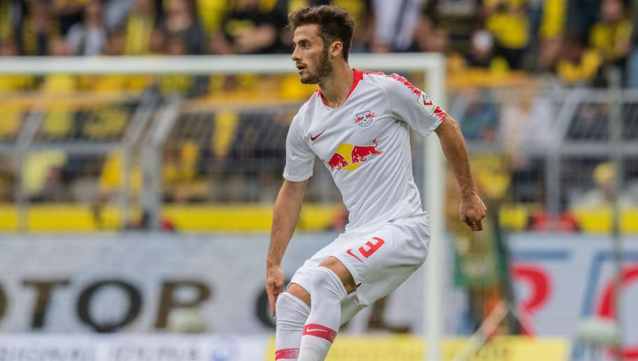 DORTMUND, GERMANY - AUGUST 26: Marcelo Saracchi of RB Leipzig runs with the ball during the Bundesliga match between Borussia Dortmund and RB Leipzig at Signal Iduna Park on August 26, 2018 in Dortmund, Germany. (Photo by Boris Streubel/Getty Images)