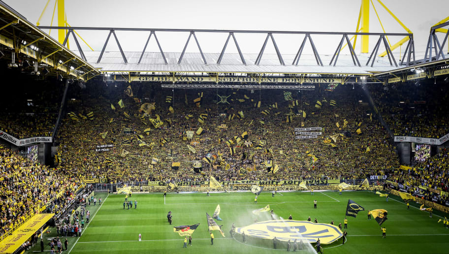 DORTMUND, GERMANY - AUGUST 26: General view of the Stadium prior to the Bundesliga match between Borussia Dortmund and RB Leipzig at Signal Iduna Park on August 26, 2018 in Dortmund, Germany. (Photo by Maja Hitij/Bongarts/Getty Images)