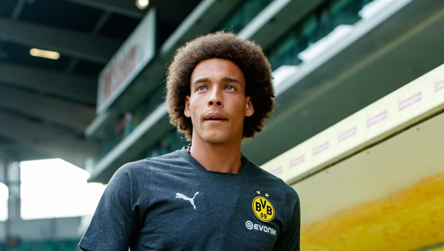 ST GALLEN, SWITZERLAND - AUGUST 07: Axel Witsel of Dortmund looks on prior to the friendly match between Borussia Dortmund and S.S.C. Napoli on August 7, 2018 in St Gallen, Switzerland. (Photo by TF-Images/Getty Images)