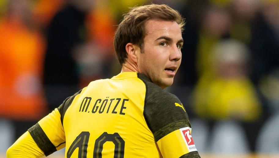 DORTMUND, GERMANY - DECEMBER 01: Mario Goetze of Dortmund looks on during the Bundesliga match between Borussia Dortmund and Sport-Club Freiburg at Signal Iduna Park on December 01, 2018 in Dortmund, Germany. (Photo by TF-Images/Getty Images)