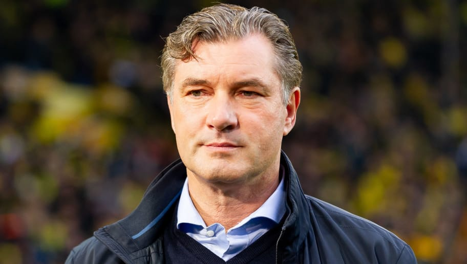 DORTMUND, GERMANY - DECEMBER 01: Michael Zorc of Dortmund looks on during the Bundesliga match between Borussia Dortmund and Sport-Club Freiburg at Signal Iduna Park on December 01, 2018 in Dortmund, Germany. (Photo by TF-Images/Getty Images)