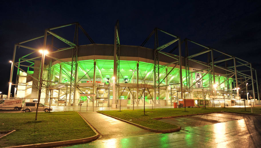 MONCHENGLADBACH, GERMANY - MARCH 28:  An exterior view of the Borussia Park stadium after the Bundesliga match between Borussia Moenchengladbach and Hamburger SV at Borussia Park on March 28, 2010 in Moenchengladbach, Germany  (Photo by Stuart Franklin/Bongarts/Getty Images)