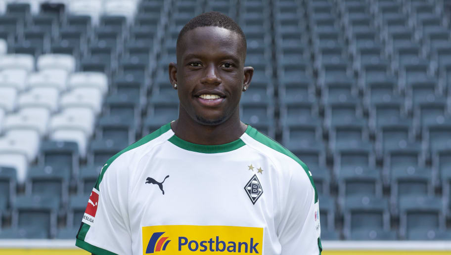 MOENCHENGLADBACH, GERMANY - AUGUST 02: Denis Zakaria of Borussia Moenchengladbach poses during the team presentation at Borussia Park on August 2, 2018 in Moenchengladbach, Germany. (Photo by Christof Koepsel/Bongarts/Getty Images)