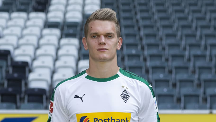 MOENCHENGLADBACH, GERMANY - AUGUST 02: Matthias Ginter of Borussia Moenchengladbach poses during the team presentation at Borussia Park on August 2, 2018 in Moenchengladbach, Germany. (Photo by Christof Koepsel/Bongarts/Getty Images)