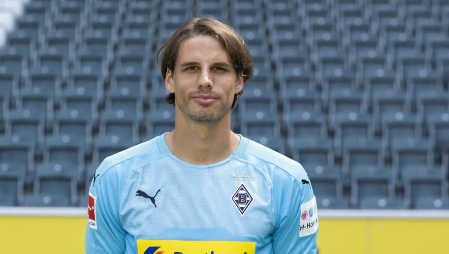 MOENCHENGLADBACH, GERMANY - AUGUST 02: Yann Sommer of Borussia Moenchengladbach poses during the team presentation at Borussia Park on August 2, 2018 in Moenchengladbach, Germany. (Photo by Christof Koepsel/Bongarts/Getty Images)