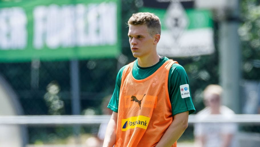 ROTTACH-EGERN, GERMANY - JULY 25: Matthias Ginter of Moenchengladbach looks on during the Borussia Moenchengladbach training camp on July 25, 2018 in Rottach-Egern, Germany. (Photo by TF-Images/Getty Images)