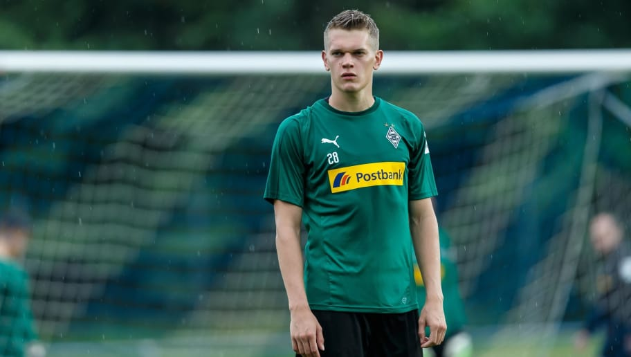 ROTTACH-EGERN, GERMANY - JULY 25: Matthias Ginter of Borussia Moenchengladbach looks on during the Borussia Moenchengladbach training camp on July 25, 2018 in Rottach-Egern, Germany. (Photo by TF-Images/Getty Images)