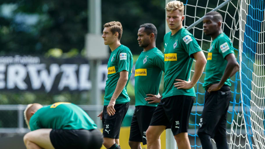 ROTTACH-EGERN, GERMANY - JULY 25: Nico Elvedi of Borussia Moenchengladbach looks on during the Borussia Moenchengladbach training camp on July 25, 2018 in Rottach-Egern, Germany. (Photo by TF-Images/Getty Images)