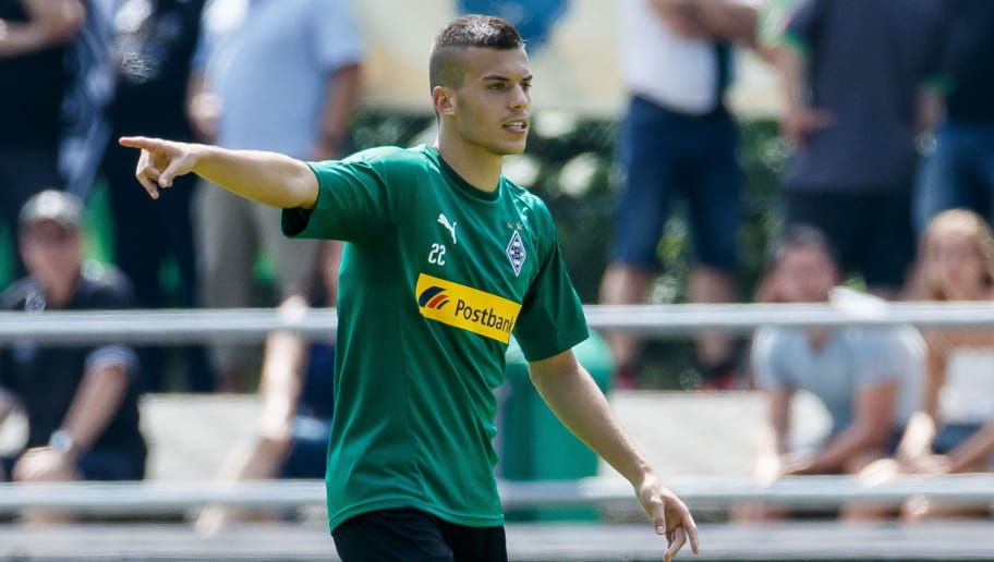ROTTACH-EGERN, GERMANY - JULY 25: Laszlo Benes of Moenchengladbach gestures during the Borussia Moenchengladbach training camp on July 25, 2018 in Rottach-Egern, Germany. (Photo by TF-Images/Getty Images)