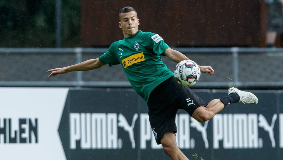 ROTTACH-EGERN, GERMANY - JULY 25: Laszlo Benes of Borussia Moenchengladbach controls the ball during the Borussia Moenchengladbach training camp on July 25, 2018 in Rottach-Egern, Germany. (Photo by TF-Images/Getty Images)