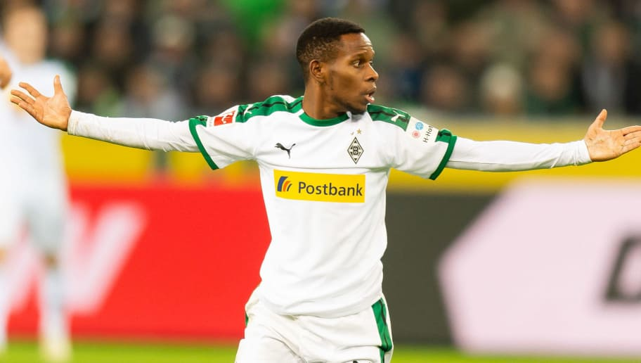 MOENCHENGLADBACH, GERMANY - DECEMBER 17: Ibrahima Traore of Borussia Moenchengladbach gestures during the Bundesliga match between Borussia Moenchengladbach and 1.FC Nuernberg at Borussia-Park on December 17, 2018 in Moenchengladbach, Germany. (Photo by TF-Images/TF-Images via Getty Images)
