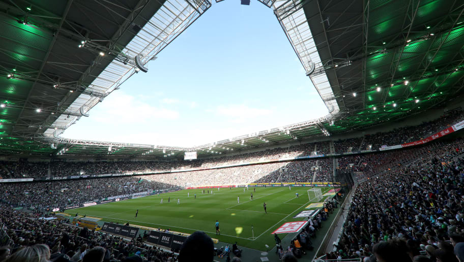 MOENCHENGLADBACH, GERMANY - AUGUST 25: General view of the Borussia-Park prior to the Bundesliga match between Borussia Moenchengladbach and Bayer 04 Leverkusen at Borussia-Park on August 25, 2018 in Moenchengladbach, Germany. (Photo by Christof Koepsel/Bongarts/Getty Images)