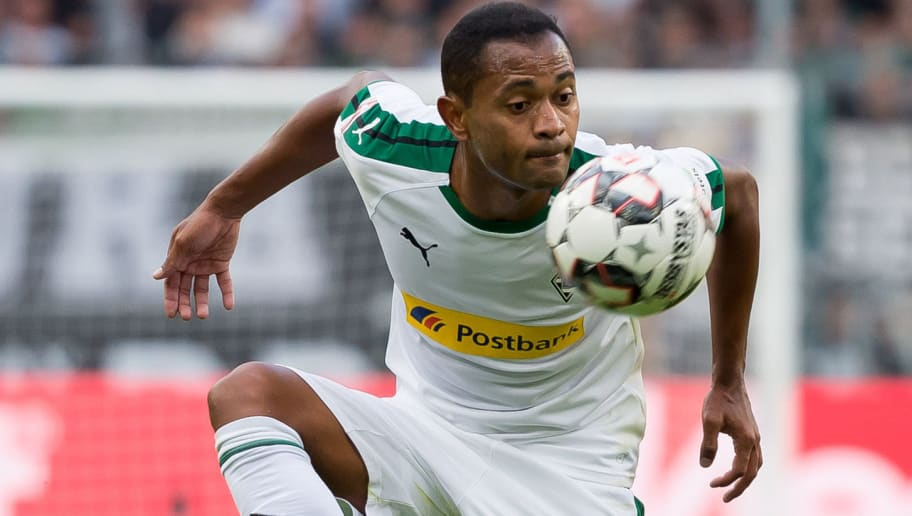 MOENCHENGLADBACH, GERMANY - AUGUST 25: Raffael of Borussia Moenchengladbach controls the ball during the Bundesliga match between Borussia Moenchengladbach and Bayer 04 Leverkusen at Borussia-Park on August 25, 2018 in Moenchengladbach, Germany. (Photo by TF-Images/Getty Images)