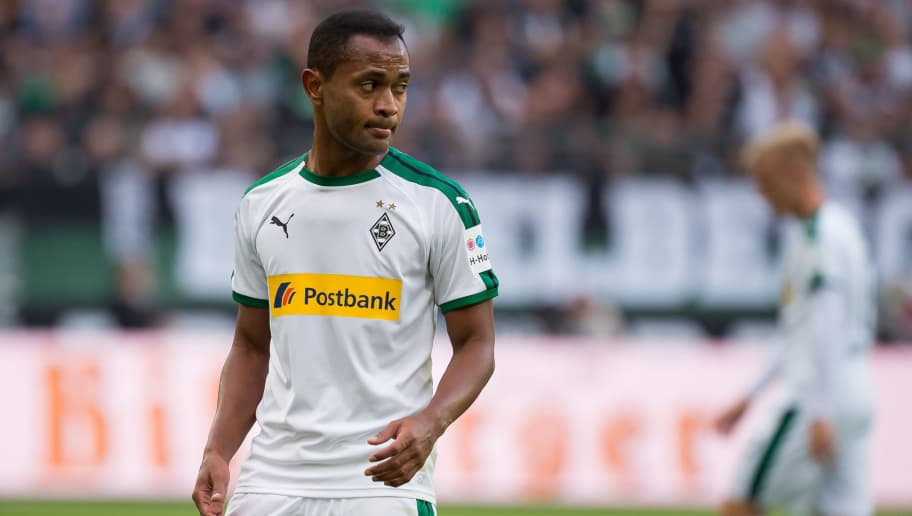 MOENCHENGLADBACH, GERMANY - AUGUST 25: Raffael of Borussia Moenchengladbach looks on during the Bundesliga match between Borussia Moenchengladbach and Bayer 04 Leverkusen at Borussia-Park on August 25, 2018 in Moenchengladbach, Germany. (Photo by TF-Images/Getty Images)