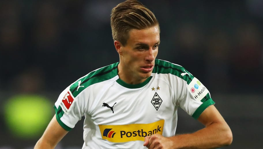 MOENCHENGLADBACH, GERMANY - SEPTEMBER 26:  Patrick Herrmann of Borussia Monchengladbach in action during the Bundesliga match between Borussia Moenchengladbach and Eintracht Frankfurt at Borussia-Park on September 26, 2018 in Moenchengladbach, Germany.  (Photo by Dean Mouhtaropoulos/Bongarts/Getty Images)