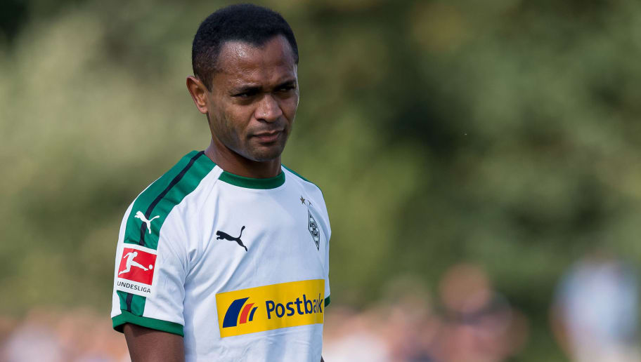 WEGBERG, GERMANY - AUGUST 11: Raffael of Borussia Moenchengladbach looks on during the friendly match beween Borussia Moenchengladbach and Espanyol Barcelona on August 11, 2018 in Wegberg, Germany. (Photo by TF-Images/Getty Images)