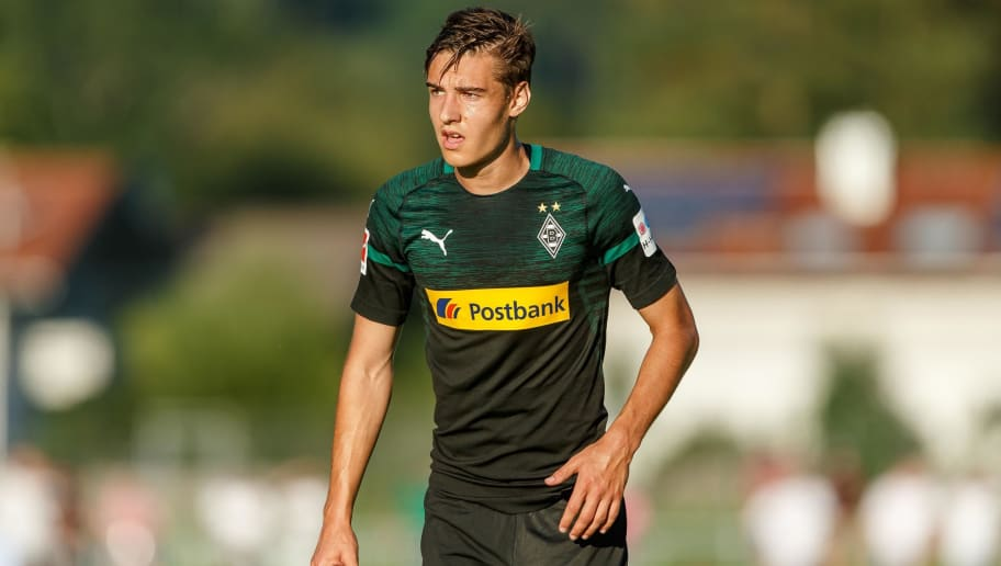 ROTTACH-EGERN, GERMANY - JULY 26: Florian Neuhaus of Borussia Moenchengladbach looks on during the Friendly match between Borussia Moenchengladbach and FC Augsburg on July 26, 2018 in Rottach-Egern, Germany. (Photo by TF-Images/Getty Images)