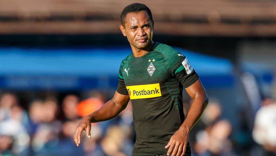 ROTTACH-EGERN, GERMANY - JULY 26: Raffael of Borussia Moenchengladbach looks on during the Friendly match between Borussia Moenchengladbach and FC Augsburg on July 26, 2018 in Rottach-Egern, Germany. (Photo by TF-Images/Getty Images)