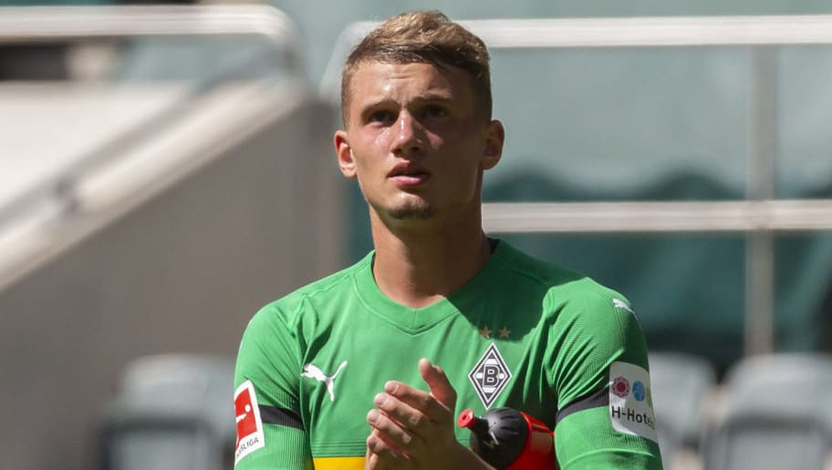 MOENCHENGLADBACH, GERMANY - AUGUST 12: Mickael Cuisance of Borussia Moenchengladbach looks on after the friendly match between Borussia Moenchengladbach and FC Wegberg-Beeck at Borussia-Park on August 12, 2018 in Moenchengladbach, Germany. (Photo by TF-Images/Getty Images)