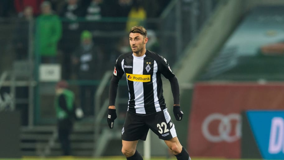 MOENCHENGLADBACH, GERMANY - DECEMBER 15: Vincenzo Grifo of Moenchengladbach controls the ball during the Bundesliga match between Borussia Moenchengladbach and Hamburger SV at Borussia-Park on December 15, 2017 in Moenchengladbach, Germany. (Photo by TF-Images/TF-Images via Getty Images)