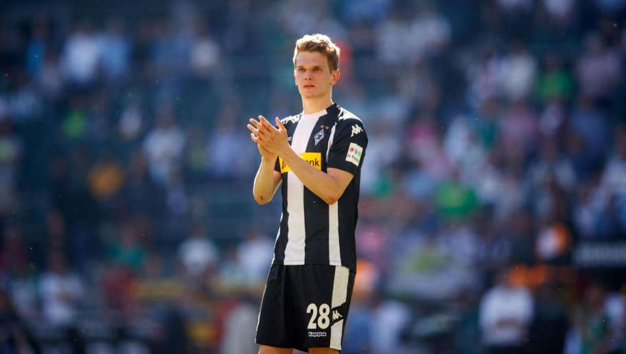 MOENCHENGLADBACH, GERMANY - MAY 05: Matthias Ginter of Moenchengladbach is seen after the Bundesliga match between Borussia Moenchengladbach and Sport-Club Freiburg at Borussia-Park on May 5, 2018 in Moenchengladbach, Germany.  (Photo by Lars Baron/Bongarts/Getty Images)