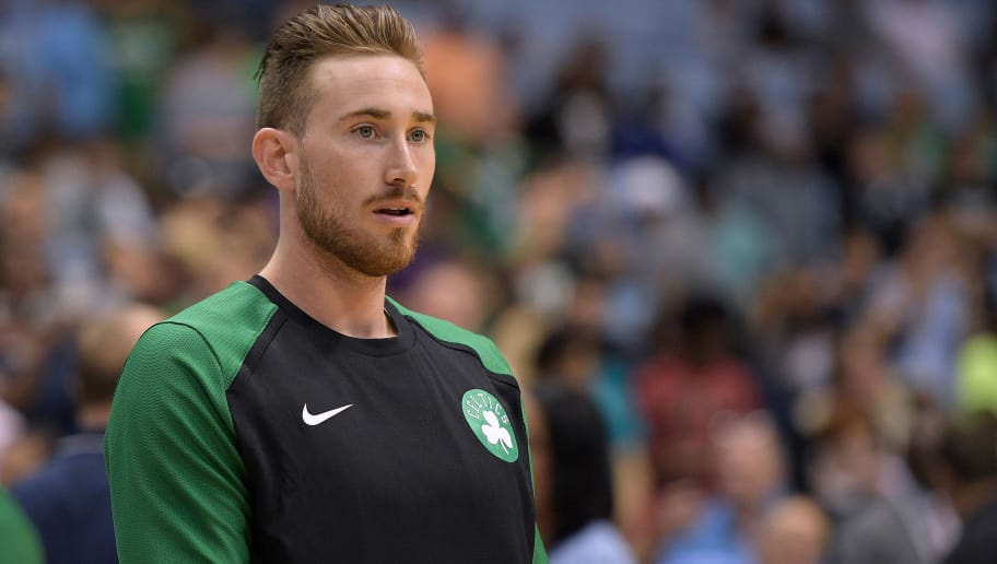 CHAPEL HILL, NC - SEPTEMBER 28: Gordon Hayward #20 of the Boston Celtics warms up prior to their preseason game against the Charlotte Hornets at Dean Smith Center on September 28, 2018 in Chapel Hill, North Carolina. NOTE TO USER: User expressly acknowledges and agrees that, by downloading and or using this photograph, User is consenting to the terms and conditions of the Getty Images License Agreement. The Hornets won 104-97. (Photo by Lance King/Getty Images)
