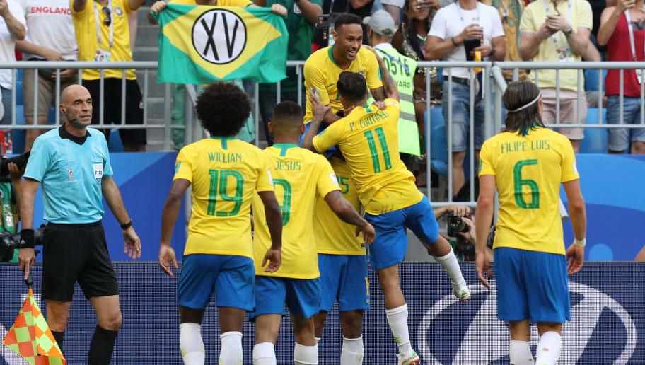 Neymar Jr,Paulinho,Philippe Coutinho,Filipe Luis,Willian,Gabriel Jesus