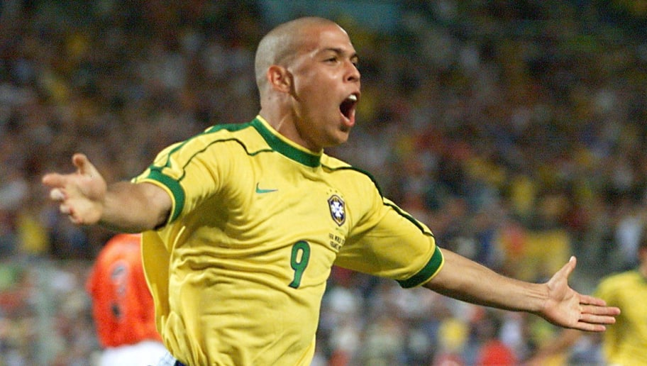 Brazilian forward Ronaldo jubilates afte