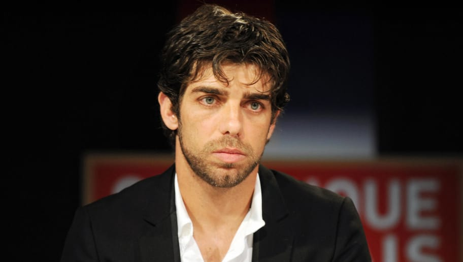 Brazilian Olympique Lyonnais' captain and midfielder Juninho attends a press conference to announce his departure from his current team, on May 26, 2009 in Lyon, eastern France. Juninho, 34, who arrived at the Olympic Lyonnais in 2001, leaves the club one year before the end of his contract. Juninho is the best goalscorer for the OL in the Champions League, with 18 goals in 65 matchs.    AFP PHOTO/ PHILIPPE MERLE (Photo credit should read PHILIPPE MERLE/AFP/Getty Images)