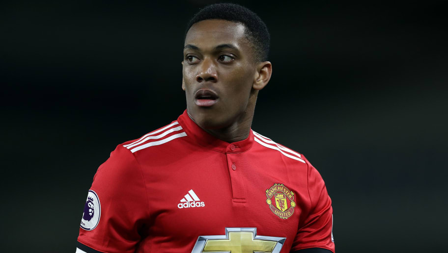 BRIGHTON, ENGLAND - MAY 04:  Anthony Martial of Manchester United in action during the Premier League match between Brighton and Hove Albion and Manchester United at Amex Stadium on May 4, 2018 in Brighton, England.  (Photo by Bryn Lennon/Getty Images)