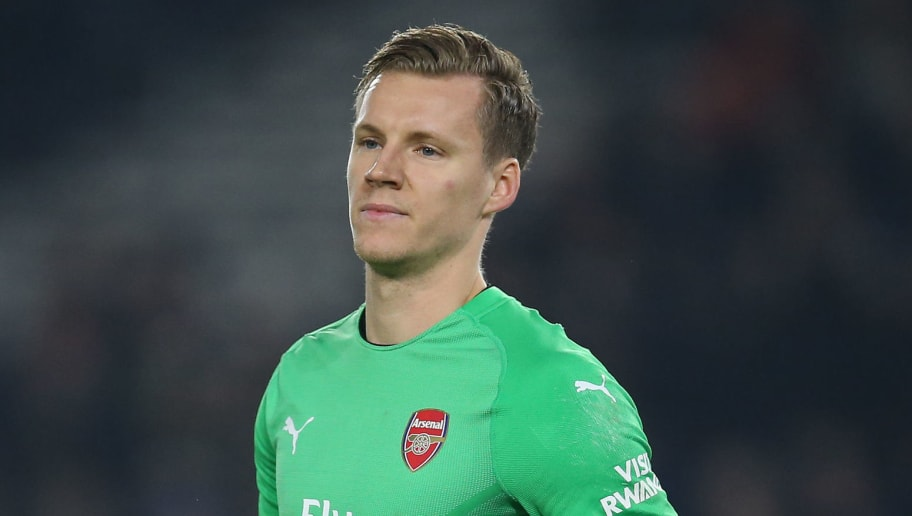 BRIGHTON, ENGLAND - DECEMBER 26: Bernd Leno of Arsenal looks on during the Premier League match between Brighton & Hove Albion and Arsenal FC at American Express Community Stadium on December 26, 2018 in Brighton, United Kingdom. (Photo by Steve Bardens/Getty Images)