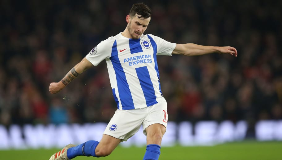 BRIGHTON, ENGLAND - DECEMBER 26: Pascal Gross of Brighton & Hove Albion in action during the Premier League match between Brighton & Hove Albion and Arsenal FC at American Express Community Stadium on December 26, 2018 in Brighton, United Kingdom. (Photo by Steve Bardens/Getty Images)