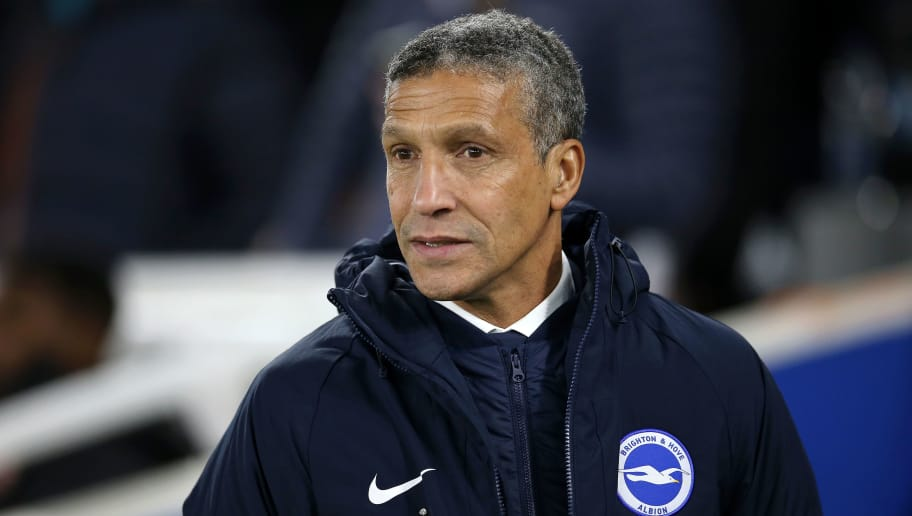 BRIGHTON, ENGLAND - DECEMBER 26:  Chris Hughton, Manager of Brighton & Hove Albion looks on prior to the Premier League match between Brighton & Hove Albion and Arsenal FC at American Express Community Stadium on December 26, 2018 in Brighton, United Kingdom.  (Photo by Steve Bardens/Getty Images)