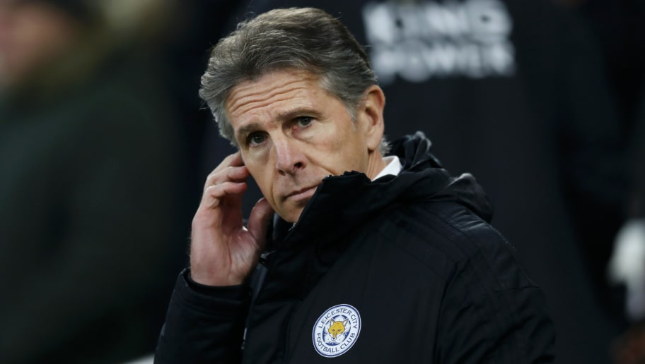 BRIGHTON, ENGLAND - NOVEMBER 24:  Claude Puel, Manager of Leicester City looks on during the Premier League match between Brighton & Hove Albion and Leicester City at American Express Community Stadium on November 24, 2018 in Brighton, United Kingdom.  (Photo by Bryn Lennon/Getty Images)