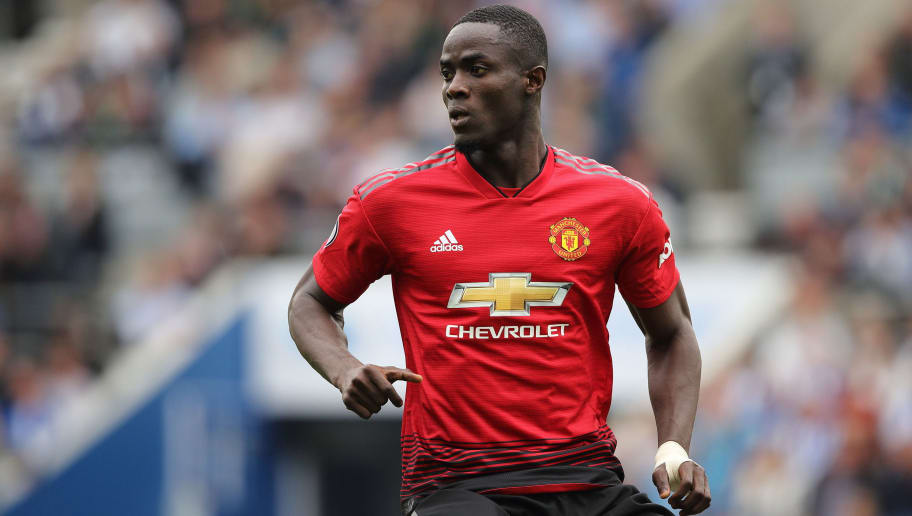 BRIGHTON, ENGLAND - AUGUST 19: Eric Bailly of Manchester United during the Premier League match between Brighton & Hove Albion and Manchester United at American Express Community Stadium on August 19, 2018 in Brighton, United Kingdom. (Photo by Matthew Ashton - AMA/Getty Images)