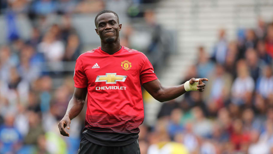 BRIGHTON, ENGLAND - AUGUST 19: A dejected Eric Bailly of Manchester United during the Premier League match between Brighton & Hove Albion and Manchester United at American Express Community Stadium on August 19, 2018 in Brighton, United Kingdom. (Photo by Matthew Ashton - AMA/Getty Images)