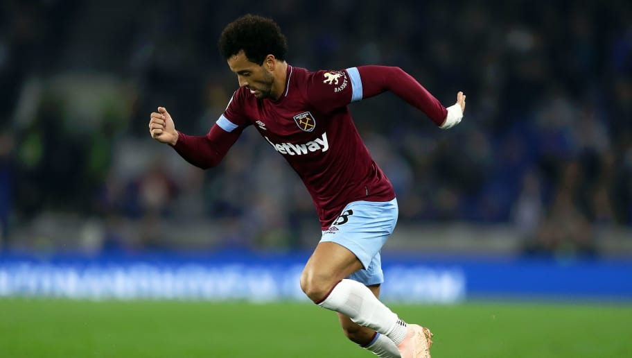 BRIGHTON, ENGLAND - OCTOBER 05:  Felipe Anderson of West Ham in action during the Premier League match between Brighton & Hove Albion and West Ham United at American Express Community Stadium on October 5, 2018 in Brighton, United Kingdom.  (Photo by Bryn Lennon/Getty Images)