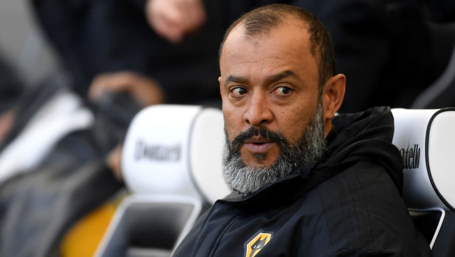 BRIGHTON, ENGLAND - OCTOBER 27:  Nuno Espirito Santo, Manager of Wolverhampton Wanderers looks looks on prior to the Premier League match between Brighton & Hove Albion and Wolverhampton Wanderers at American Express Community Stadium on October 27, 2018 in Brighton, United Kingdom.  (Photo by Mike Hewitt/Getty Images)