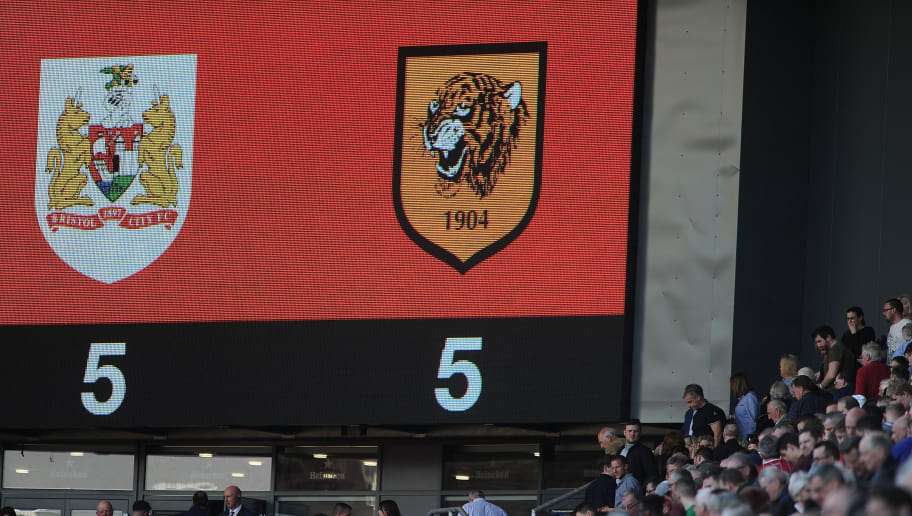 BRISTOL, ENGLAND - APRIL 21: Detailed view of the final score reading Bristol City 5-5 Hull City during the Sky Bet Championship match between Bristol City and Hull City at Ashton Gate on April 21, 2018 in Bristol, England. (Photo by Harry Trump/Getty Images)