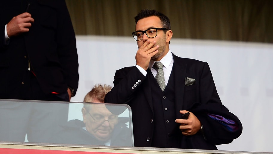 BRISTOL, ENGLAND - OCTOBER 21: Andrea Radrizzani, Owner of Leeds United looks on during the Sky Bet Championship match between Bristol City and Leeds United at Ashton Gate on October 21, 2017 in Bristol, England.  (Photo by Harry Trump/Getty Images)