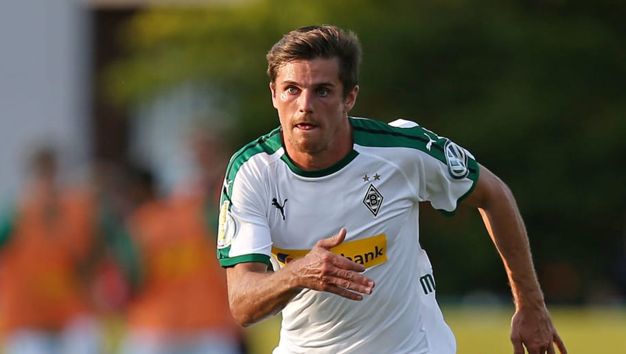 BREMEN, GERMANY - AUGUST 19: Jonas Hofmann of Borussia Moenchengladbach in action during the DFB Cup first round match between BSC Hastedt and Borussia Moenchengladbach at stadium Platz 11 on August 19, 2018 in Bremen, Germany. (Photo by Cathrin Mueller/Bongarts/Getty Images)