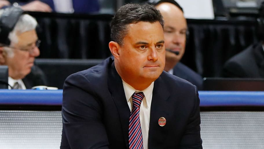 BOISE, ID - MARCH 15:  Head coach Sean Miller of the Arizona Wildcats reacts in the first half against the Buffalo Bulls during the first round of the 2018 NCAA Men's Basketball Tournament at Taco Bell Arena on March 15, 2018 in Boise, Idaho.  (Photo by Kevin C. Cox/Getty Images)