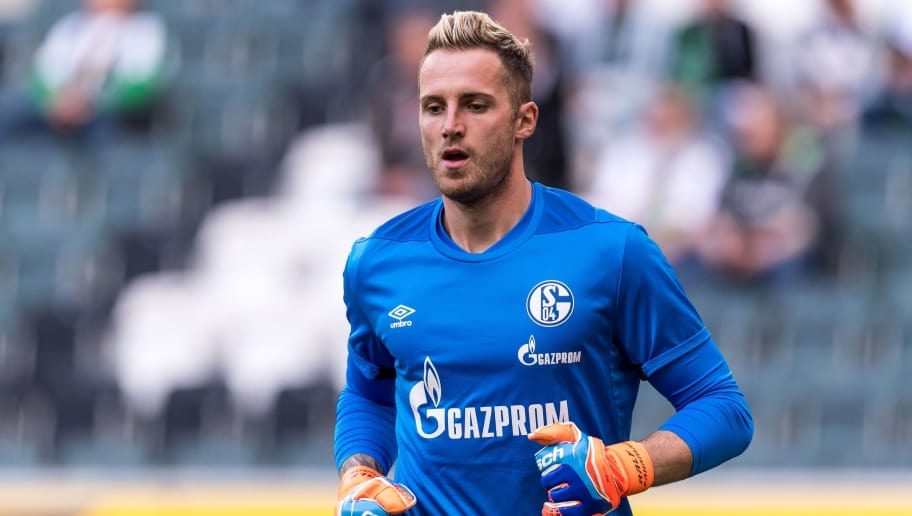 goalkeeper Ralf Fährmann of FC Schalke 04  DFL REGULATIONS PROHIBIT ANY USE OF PHOTOGRAPHS AS IMAGE SEQUENCES AND/OR QUASI-VIDEO. during the Bundesliga match between Borussia Monchengladbach and FC Schalke 04 at the Borussia-Park,  on September 15, 2018 in Monchengladbach, Germany(Photo by VI Images via Getty Images)
