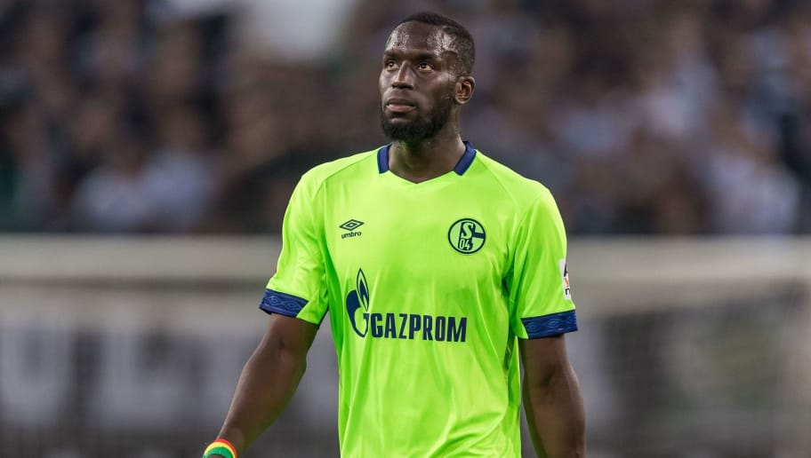 Salif Sané of FC Schalke 04 DFL REGULATIONS PROHIBIT ANY USE OF PHOTOGRAPHS AS IMAGE SEQUENCES AND/OR QUASI-VIDEO. during the Bundesliga match between Borussia Monchengladbach and FC Schalke 04 at the Borussia-Park,  on September 15, 2018 in Monchengladbach, Germany(Photo by VI Images via Getty Images)