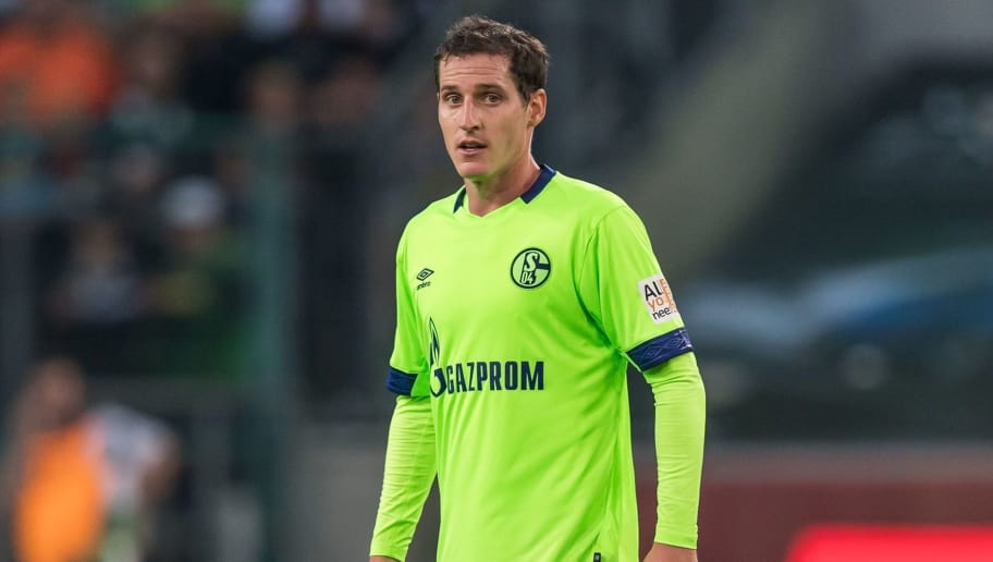 Sebastian Rudy of FC Schalke 04 DFL REGULATIONS PROHIBIT ANY USE OF PHOTOGRAPHS AS IMAGE SEQUENCES AND/OR QUASI-VIDEO. during the Bundesliga match between Borussia Monchengladbach and FC Schalke 04 at the Borussia-Park,  on September 15, 2018 in Monchengladbach, Germany(Photo by VI Images via Getty Images)