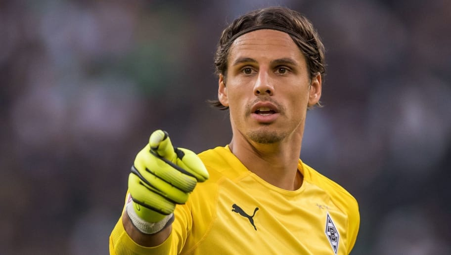 goalkeeper Yann Sommer of Borussia Mönchengladbach DFL REGULATIONS PROHIBIT ANY USE OF PHOTOGRAPHS AS IMAGE SEQUENCES AND/OR QUASI-VIDEO. during the Bundesliga match between Borussia Monchengladbach and FC Schalke 04 at the Borussia-Park,  on September 15, 2018 in Monchengladbach, Germany(Photo by VI Images via Getty Images)