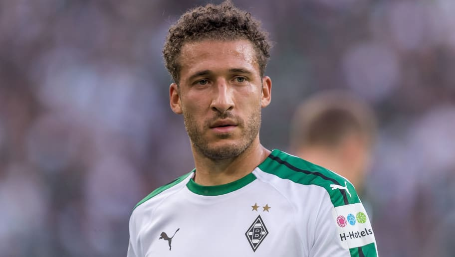 Fabian Johnson of Borussia Mönchengladbach DFL REGULATIONS PROHIBIT ANY USE OF PHOTOGRAPHS AS IMAGE SEQUENCES AND/OR QUASI-VIDEO. during the Bundesliga match between Borussia Monchengladbach and FC Schalke 04 at the Borussia-Park,  on September 15, 2018 in Monchengladbach, Germany(Photo by VI Images via Getty Images)